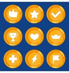 cartoon gamification badges vector image vector image