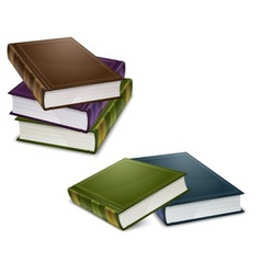 close color books vector image vector image