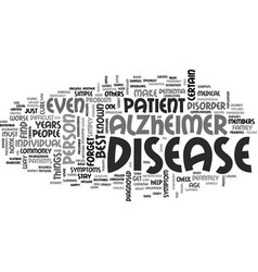 Alzheimers disease history text word cloud concept vector
