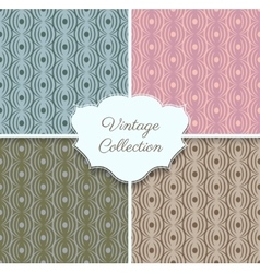 Geometric seamless pattern collection vector image