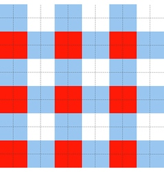 Lines Dots Blue Serenity Red White Chessboard vector image vector image