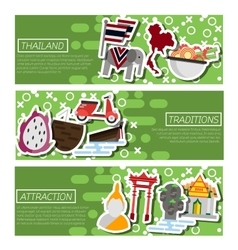 Set of Horizontal Banners about Thailand vector image vector image