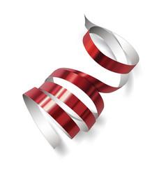 festive ribbon on white background vector image vector image