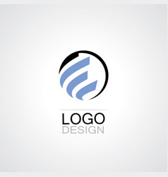 globe abstract techno logo vector image
