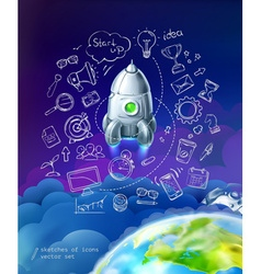 Start up business infographics set vector image
