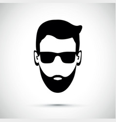 beard man with sunglasses vector image