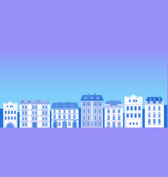 big modern city view cityscape silhouette skyline vector image