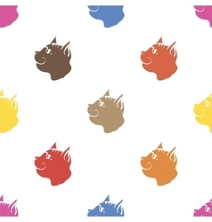 Cat Seamless Animal Pattern vector image vector image