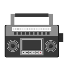 classic boom box icon vector image