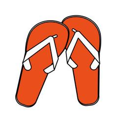 flip flops cartoon silhouette vector image vector image