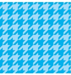 Houndstooth tile blue pattern or background vector image vector image