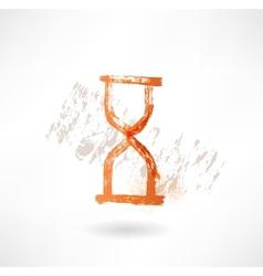 hourglass grunge icon vector image