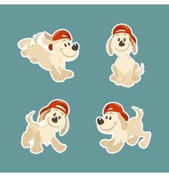 Puppy dog character design set vector image vector image