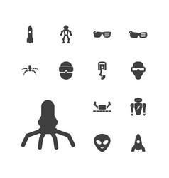 13 futuristic icons vector