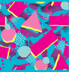 Abstract blot seamless pattern dotted painted vector