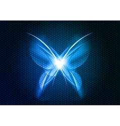 Abstract blue butterfly vector