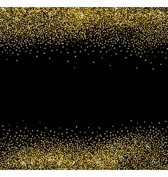 Abstract gold glittering background vector