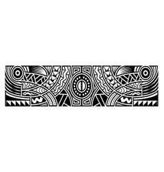 Abstract tribal art tattoo sleeve in polynesian vector
