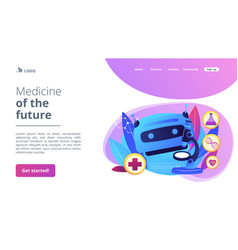 ai use in healthcare concept landing page vector image