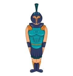 Ancient Egyptian warrior icon cartoon style vector