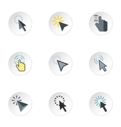 Arrow icons set flat style vector