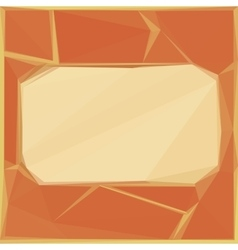 Background Frame and Low Poly Pattern vector image