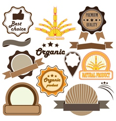 Badges and labels of quality vector