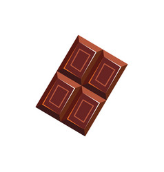 Bar choco isolated piece chocolate candy vector