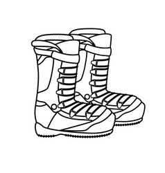 Boots snowboard sport icon vector