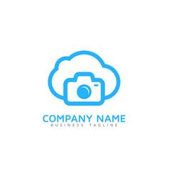 Camera cloud logo icon design vector