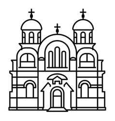 Christian temple icon outline style vector
