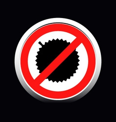 Circle prohibited sign for no durian allowed vector