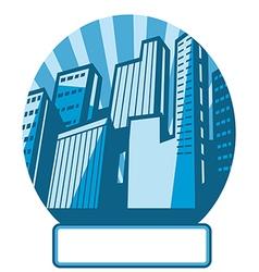 Cityscape Icon Label vector