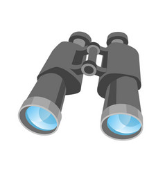classic binoculars with clear lenses isolated vector image