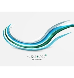 Colorful stripes wave composition business vector image