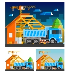 Construction Compositions Set vector image