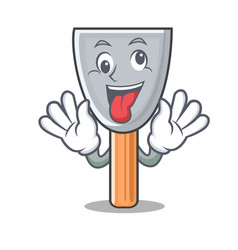 Crazy vintage putty knife on mascot vector
