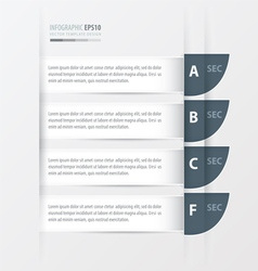 Curve Modern infographics banner white colore vector