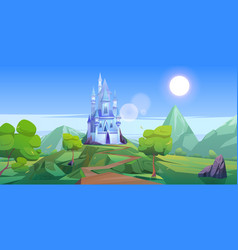 Fairy tale royal castle in mountains vector