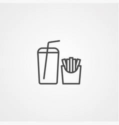 fast food icon sign symbol vector image