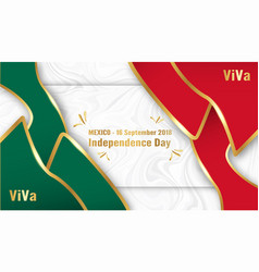 for mexico independence day on 16 september for vector image
