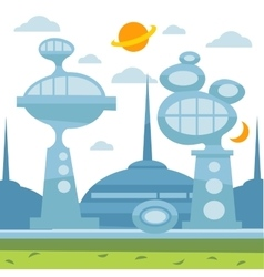 Future city landscape modern vector image