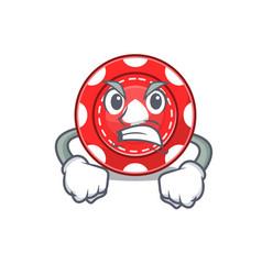 Gambling chips cartoon character design having vector