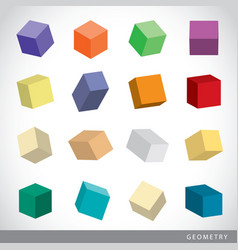 Geometric shapes platonic solids vector