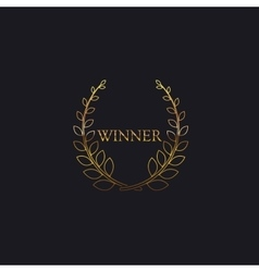 Golden Winner Award Sign vector image