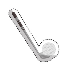 Golf club sport icon vector