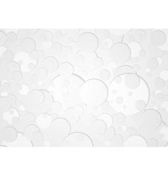 Grey circles tech geometric background vector