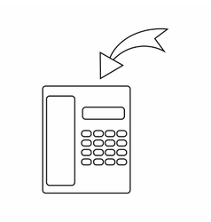 Incoming call icon thin line style vector image