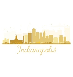 Indianapolis City skyline golden silhouette vector
