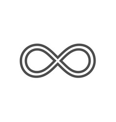 Infinity symbol loop figure 8 icon eternity logo vector
